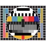 测试电视 免版税库存图片