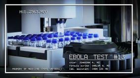 测试疫苗反对埃伯拉传染,在a 股票录像