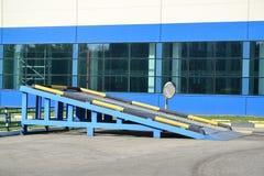 测试的平台汽车的停车制动在terr的 免版税库存图片