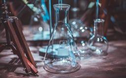 测试的玻璃管在实验室 库存图片