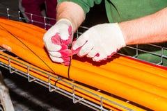 测试缆绳路由器 免版税图库摄影