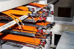 测试缆绳路由器 库存照片