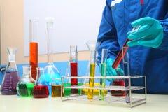 测试解答化验实验室化学 库存图片