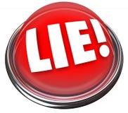测谎器闪动的红灯警报测谎器说谎 图库摄影