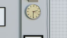 测量一个小时的办公室时钟 股票录像