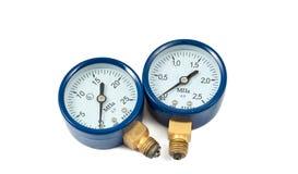 测量仪查出的氧气压 免版税库存图片