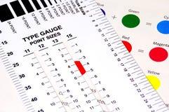 测量仪类型 免版税库存照片