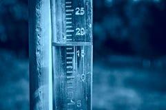 测量仪评定的降雨量 免版税库存照片