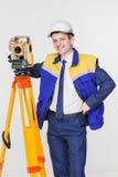 测量员被隔绝 免版税库存照片