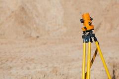 测量员设备经纬仪 免版税库存图片
