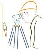 测量员 图库摄影