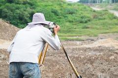 测量员 库存照片