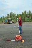 测量员 免版税库存照片