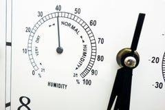 测量和控制湿气的联合的显示仪器特写镜头  设备,数字的标度面孔有黑针的和 库存照片