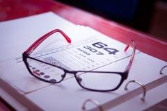 测量您的眼睛 免版税库存照片