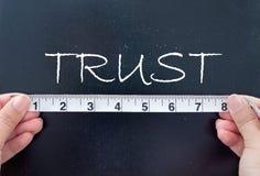 测量的信任 库存照片