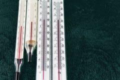 测量的室温温度计 库存图片