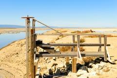 测量的平台在板条矿 库存照片