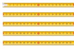 测量的磁带一米长度库存传染媒介例证 库存例证