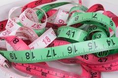 测量的磁带盘  免版税库存图片