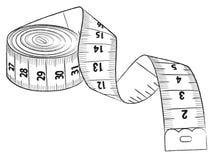 测量的磁带 向量例证