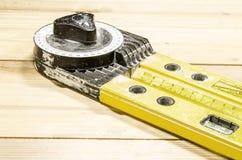 测量的角度-分度器用具 图库摄影