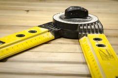 测量的角度-分度器用具 库存图片