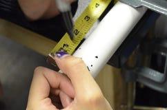 测量的PVC 免版税库存图片