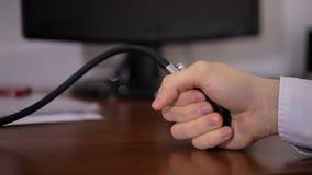 测量耐心压力关闭的医生  影视素材