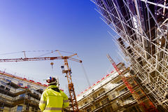 测量仪器,勘测和建筑 免版税库存图片