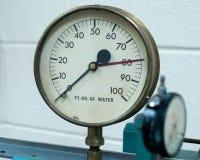 测量仪,压力,古董,水压, 库存图片