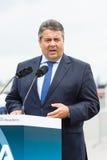 经济事务部长和能量西格玛尔・加布里尔 免版税图库摄影