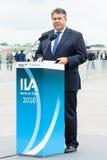 经济事务部长和能量西格玛尔・加布里尔 免版税库存照片