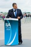 经济事务部长和能量西格玛尔・加布里尔 免版税库存图片