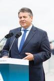 经济事务部长和能量西格玛尔・加布里尔 库存图片