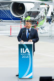 经济事务部长和能量,西格玛尔・加布里尔 库存照片