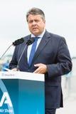 经济事务部长和能量,西格玛尔・加布里尔 库存图片