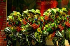 济南杂技马戏团在圣彼德堡,俄罗斯执行 免版税库存照片