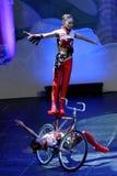 济南杂技马戏团在圣彼德堡,俄罗斯执行 库存图片