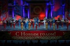济南杂技马戏团在圣彼德堡,俄罗斯执行 图库摄影