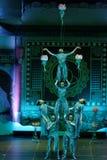 济南杂技马戏团在圣彼德堡,俄罗斯执行 库存照片