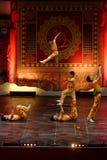 济南杂技马戏团在圣彼德堡,俄罗斯执行 免版税库存图片