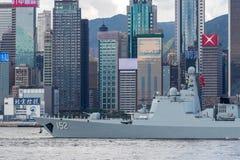 济南第152导弹驱逐舰 免版税库存图片