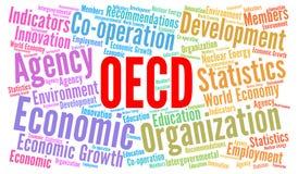 经济合作与发展组织词云彩 向量例证