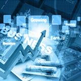 经济图和图表 免版税库存图片