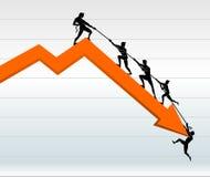 经济图表抢救 向量例证