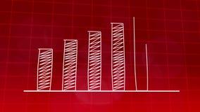 经济增长图表图红色4K 库存例证