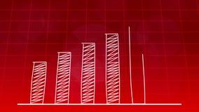 经济增长图表图红色4K 皇族释放例证