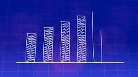 经济增长图表图蓝色4K 皇族释放例证