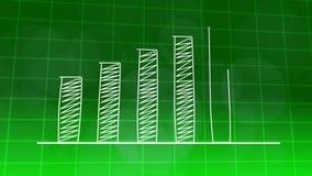 经济增长图表图绿色4K 库存例证